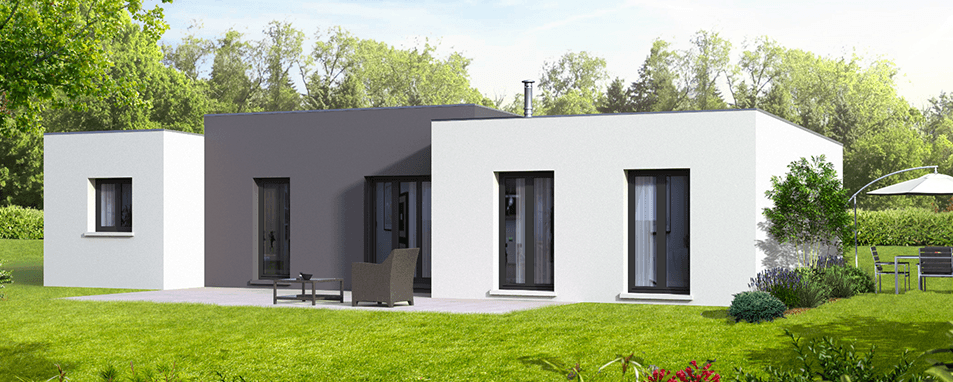 Construction maison plain pied fidjie maison for Maisons contemporaines plain pied